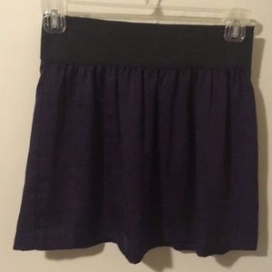 Purple silky mini skirt